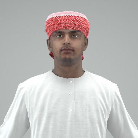 ARAB MAN- RIGGED 3D MODEL (ArMan0002HD2CS)