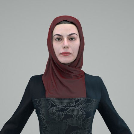ARAB WOMAN- RIGGED 3D MODEL (ArWom0002HD2CS)