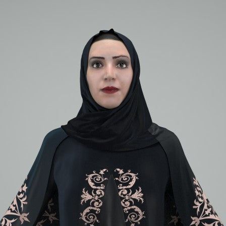 ARAB WOMAN- RIGGED 3D MODEL (ArWom0001HD2CS)