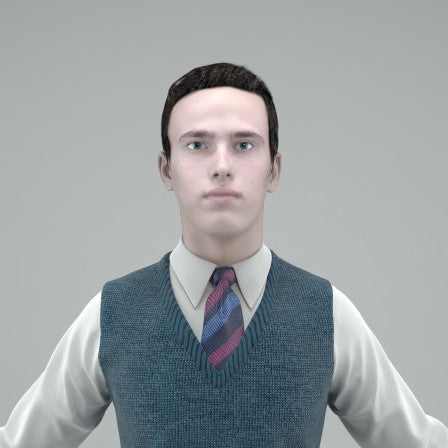 UNIFORM CHARACTER- RIGGED 3D MODEL (CBoy0001HD2CS)