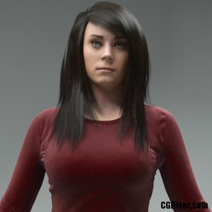 High Quality Rigged 3D Woman - CWom0019HD2CS 3DS MAX Human