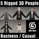 3D People- 5 Rigged 3D Models (MeMsCS001M3)