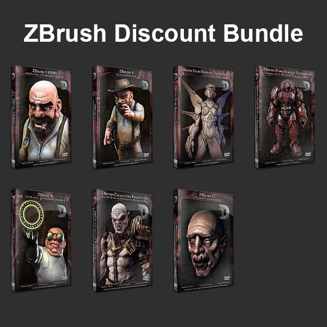 ZBrush Discount Bundle - Eat3D Video Tutorials