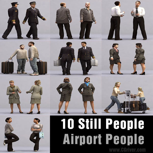 AIRPORT PEOPLE- 10 STILL MODELS (MeApS0001)