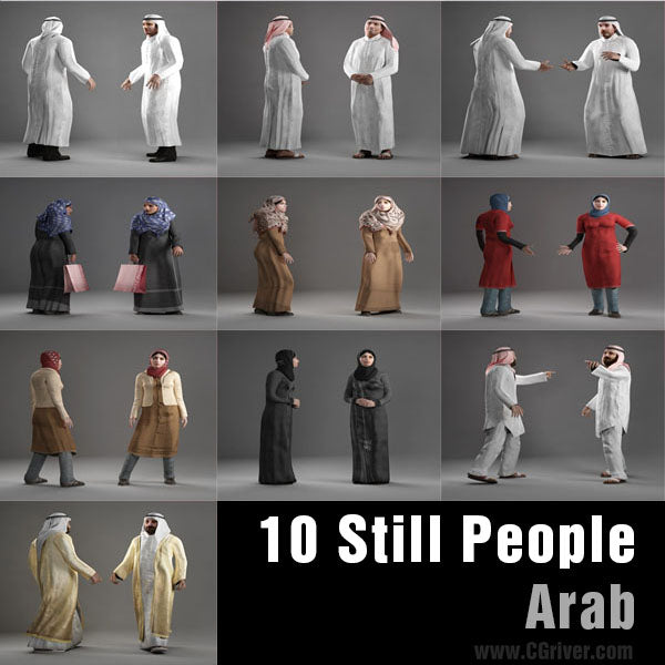 ARAB PEOPLE- 10 STILL MODELS (MeArS0001)