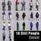 CASUAL PEOPLE- 10 STILL MODELS (MeCaS0001)