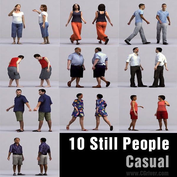 CASUAL PEOPLE- 10 STILL MODELS (MeCaS0003)