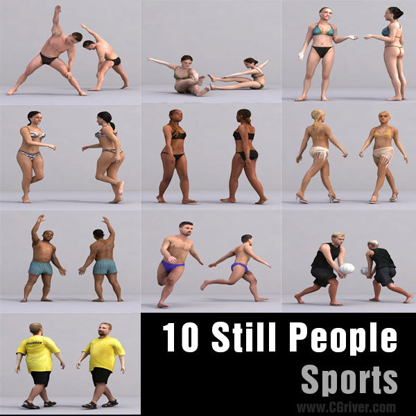 ATHLETES (SPORT) - 10 STILL MODELS (MeSpS0001)