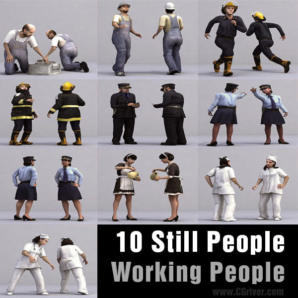 WORKING PEOPLE- 10 STILL MODELS (MeWoS0001)