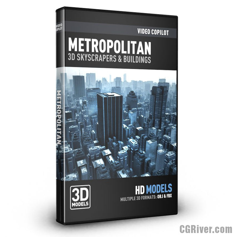 Metropolitan - 3D Skyscrapers & Buildings for Element 3D, Cinema 4D, 3ds Max with V-ray and more...