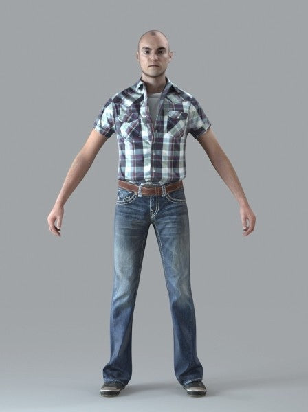 Casual Man - Rigged 3D Human Model (CMan0010M4CS)