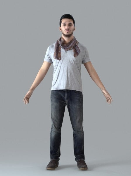 Casual Man - Rigged 3D Human Model (CMan0018M4CS)