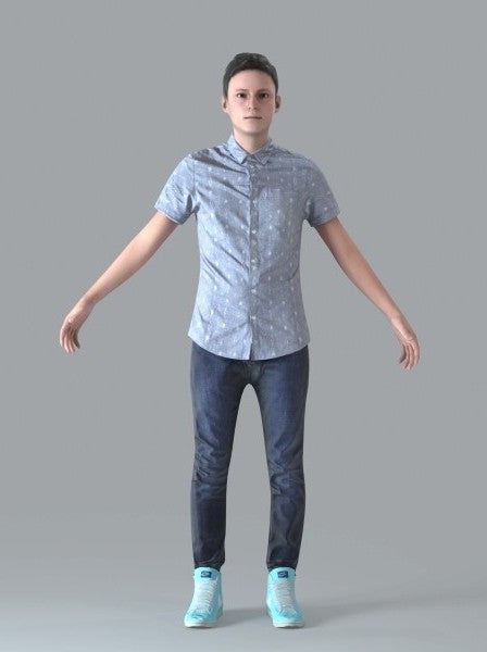 Casual Man - Rigged 3D Human Model (CMan0019M4CS)