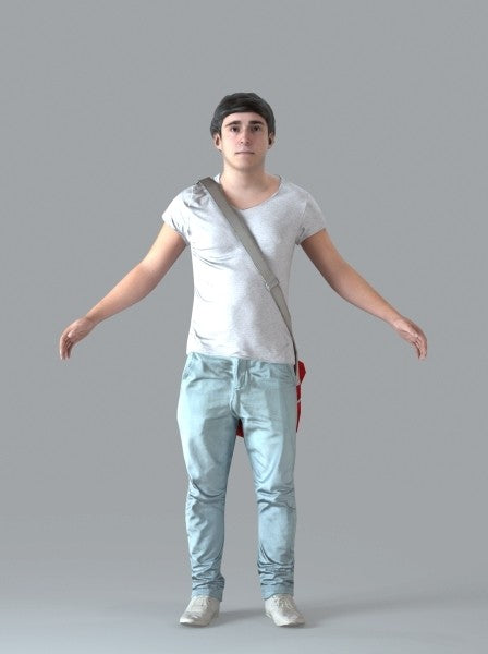 Casual Man - Rigged 3D Human Model (CMan0020M4CS)