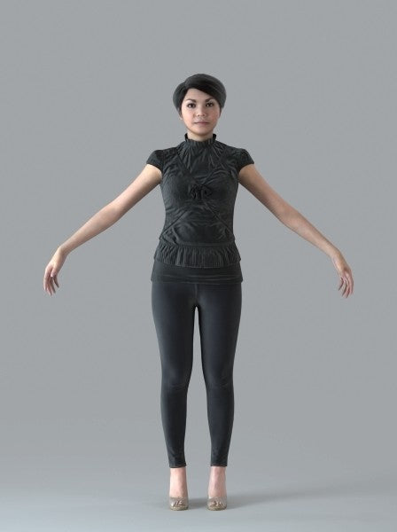 Asian Woman - Rigged 3D Human Model (CWom0012M4CS)