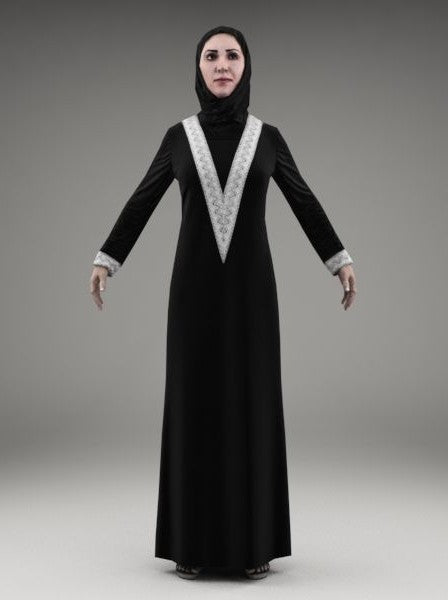 ARAB WOMAN - RIGGED 3D MODEL(ArWom0003M3CS)