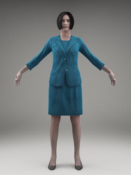 BUSINESSWOMAN - RIGGED 3D MODEL(BWom0003M3CS)