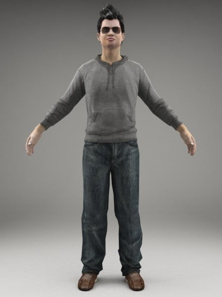 CASUAL MAN - RIGGED 3D MODEL(CMan0001M3CS)
