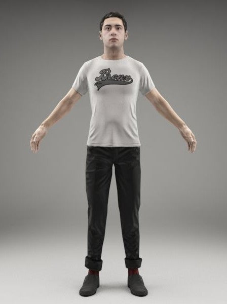 CASUAL MAN - RIGGED 3D MODEL(CMan0014M3CS)