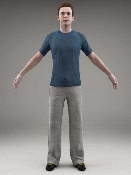 ATHLETE (SPORT) - RIGGED 3D MODEL(SMan0002M3CS)