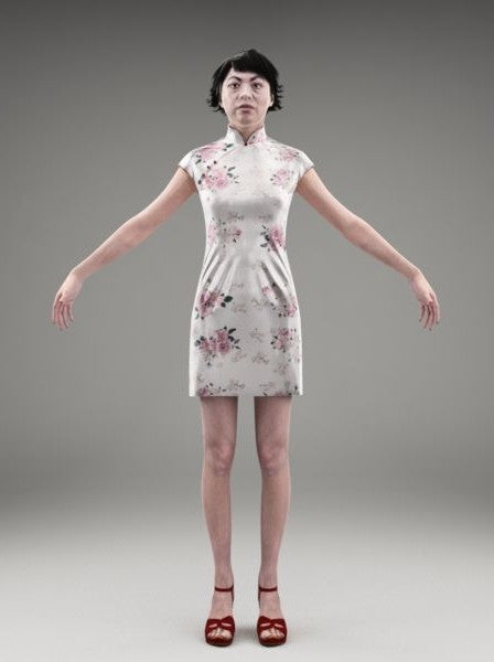 ASIAN WOMAN - FBX RIGGED MODEL (AsWom0001M3FBX)
