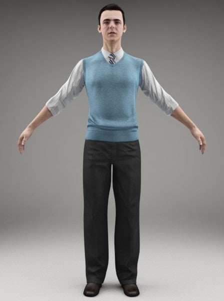 BUSINESSMAN - FBX RIGGED MODEL (BMan0003M3FBX)