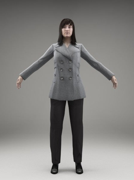 BUSINESSWOMAN - FBX RIGGED MODEL (BWom0005M3FBX)