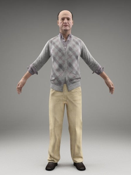 CASUAL MAN - FBX RIGGED MODEL (CMan0008M3FBX)