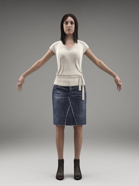 CASUAL WOMAN - FBX RIGGED MODEL (CWom0004M3FBX)