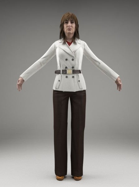CASUAL WOMAN - FBX RIGGED MODEL (CWom0008M3FBX)