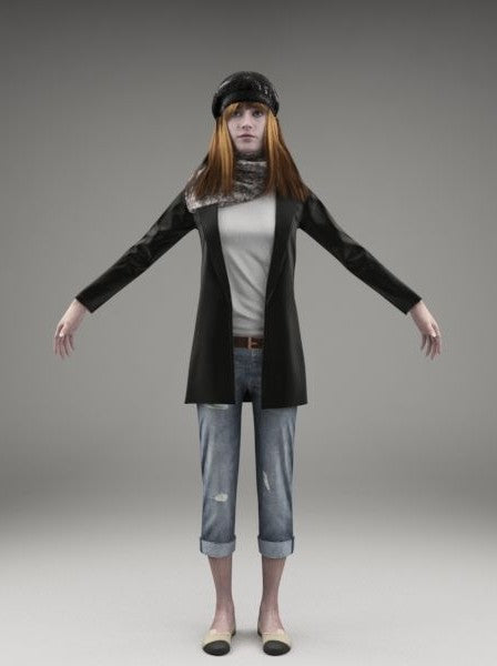 CASUAL WOMAN - FBX RIGGED MODEL (CWom0017M3FBX)