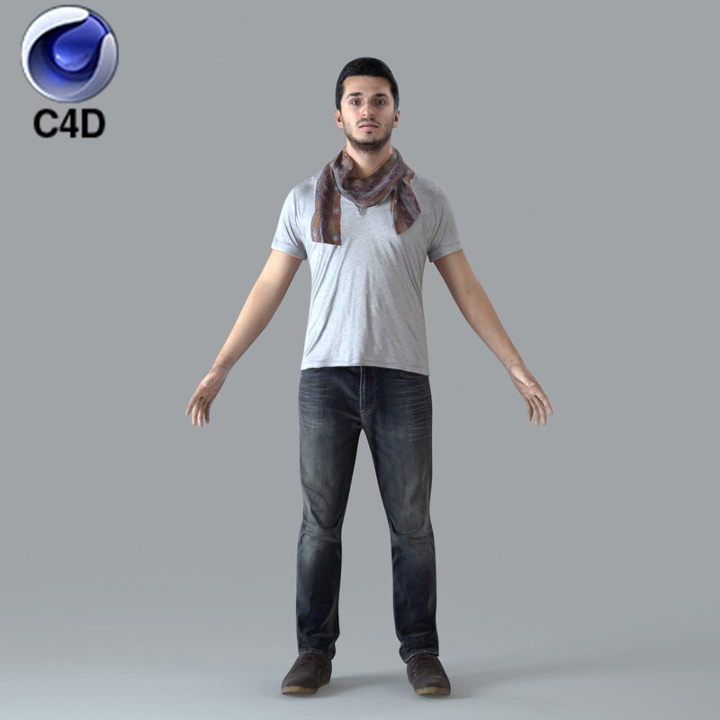 Cinema 4D CASUAL MAN - RIGGED 3D MODEL (CMan0018M4c4d)