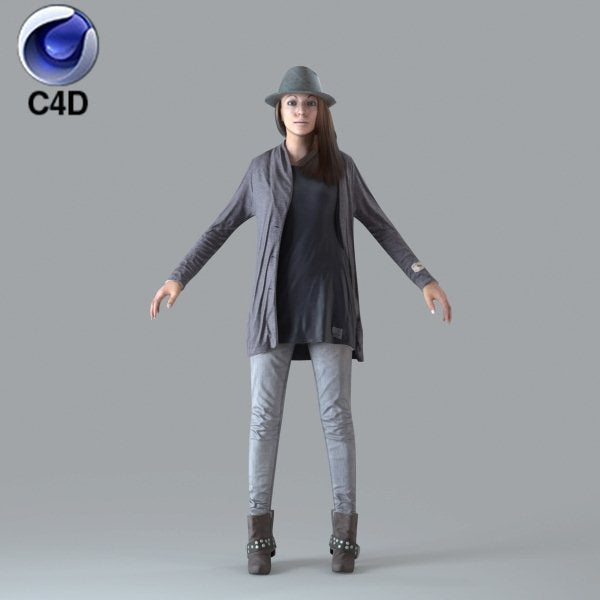 Cinema 4D BUSINESSWOMAN - RIGGED 3D MODEL (BWom0008M4c4d)
