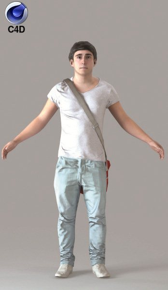 Cinema 4D CASUAL MAN - RIGGED 3D MODEL (cman0020m4c4d)