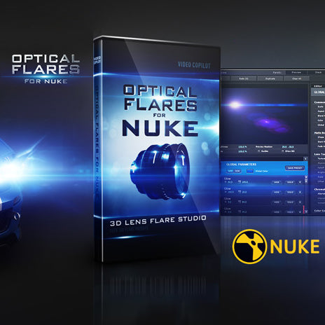 NUKE FLARE BUNDLE | Optical Flares for Nuke + Pro Preset 1 + Pro Presets 2- Video Copilot