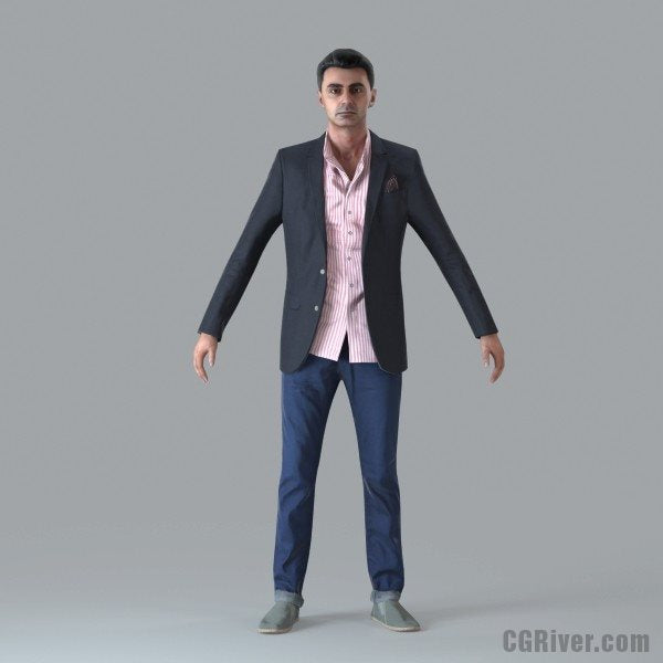 Casual Man - Rigged 3D Human Model (CMan0017M4)