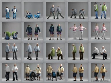 CASUAL PEOPLE- 10 STILL MODELS (MeCaS0007)