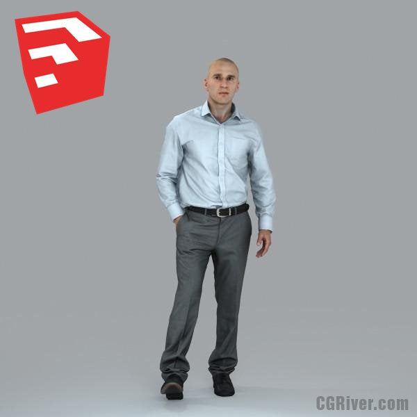 Businessman - BMan0006HD2-O01P08S_SU - Ready-Posed 3D Human Model (Still)