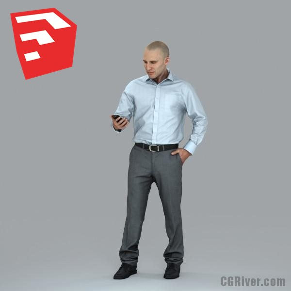 Businessman - BMan0006HD2-O01P05S_SU - Ready-Posed 3D Human Model (Still)