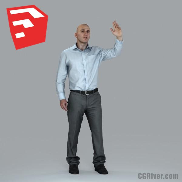 Businessman - BMan0006HD2-O01P15S_SU - Ready-Posed 3D Human Model (Still)