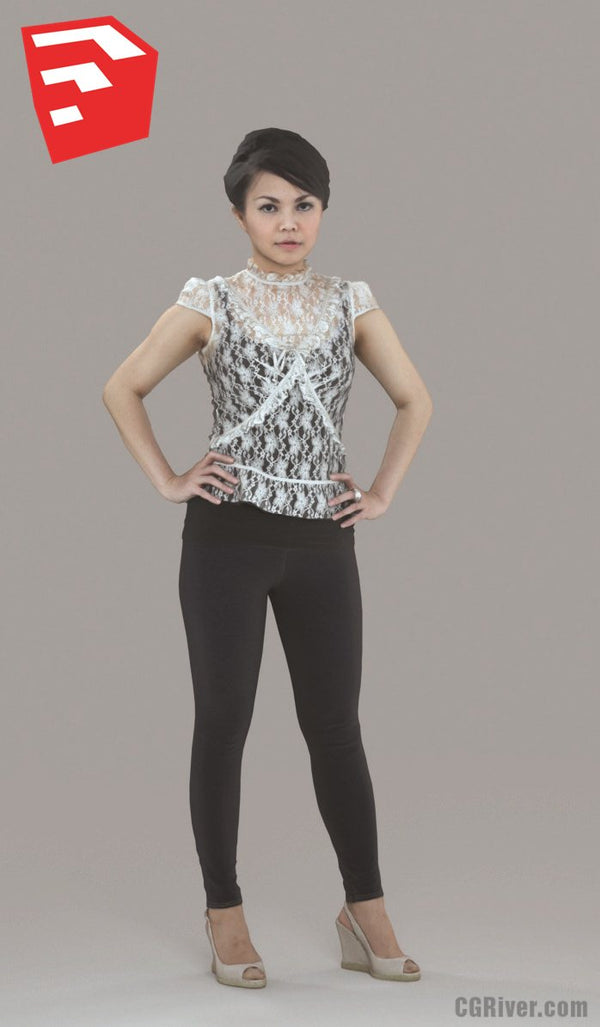Young Female Character - CWom0012HD2-O01P06S_SU - Ready-Posed 3D Human Model (Still)