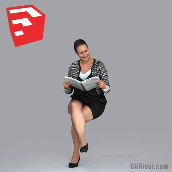 Businesswoman - BWom0012HD2-O03P19S_SU - Ready-Posed 3D Human Model (Still)
