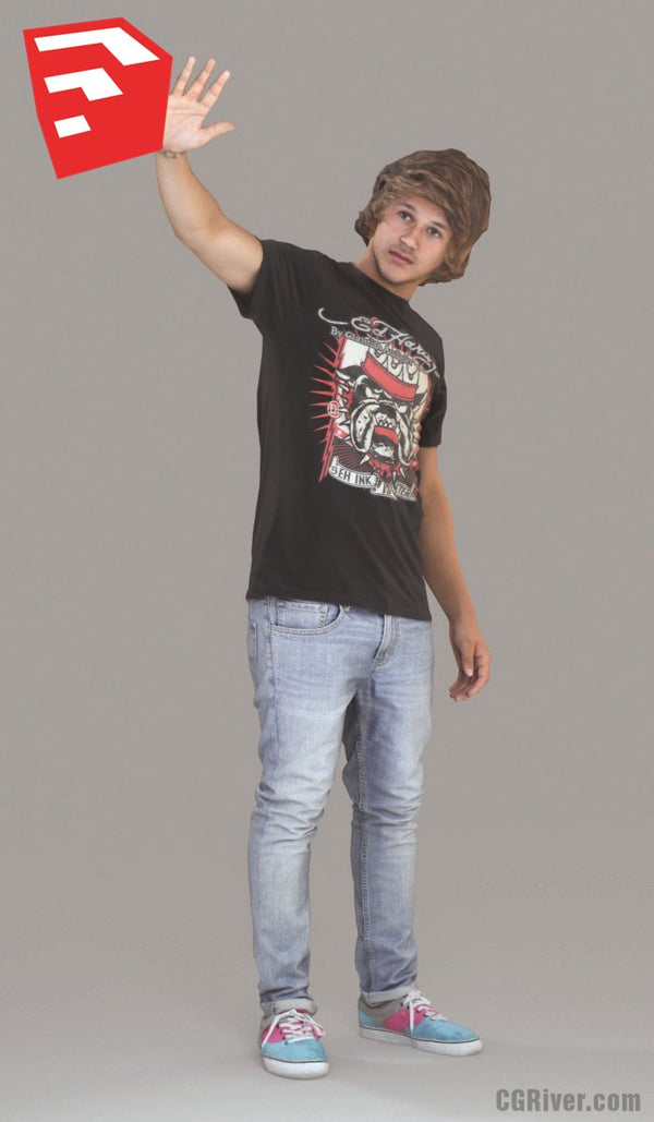 Young Man / Boy / Character - CMan0011HD2-O02P08S_SU - Ready-Posed 3D Human Model (Still)