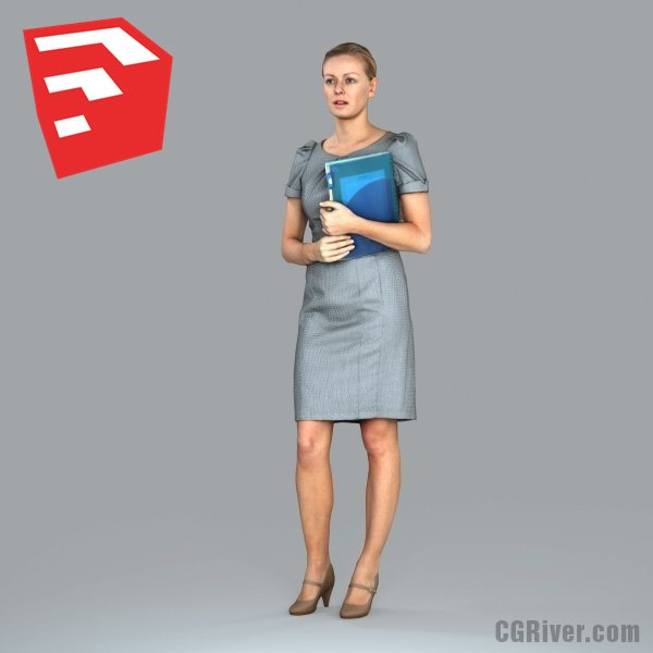 Businesswoman - BWom0011HD2-O02P07S_SU - Ready-Posed 3D Human Model (Still)