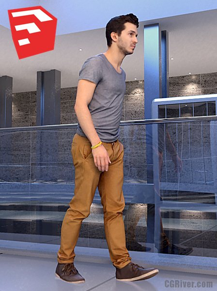 Young Male Character - CMan0018HD2SO01P11_SU - Ready-Posed 3D Human Model (Still)