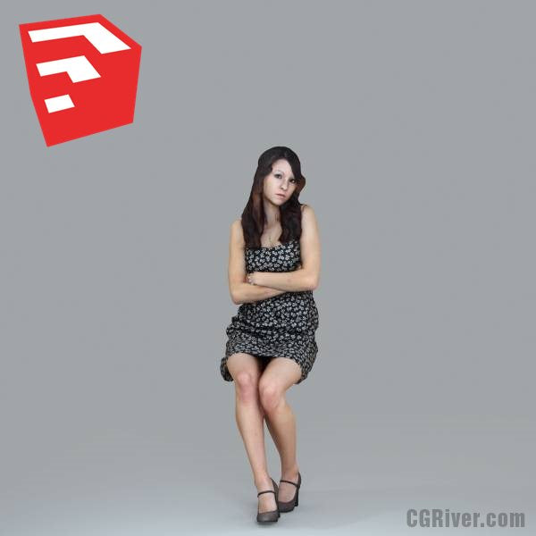 Young Female Character - CWom0020HD2-O02P18S_SU - Ready-Posed 3D Human Model (Still)