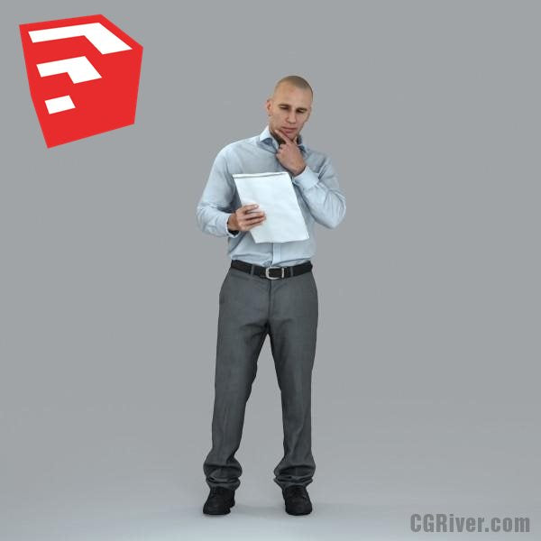 Businessman - BMan0006HD2-O01P09S_SU - Ready-Posed 3D Human Model (Still)
