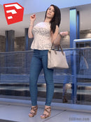 Young Female Character - CWom0019HD2O02P15S_SU - Ready-Posed 3D Human Model (Still)