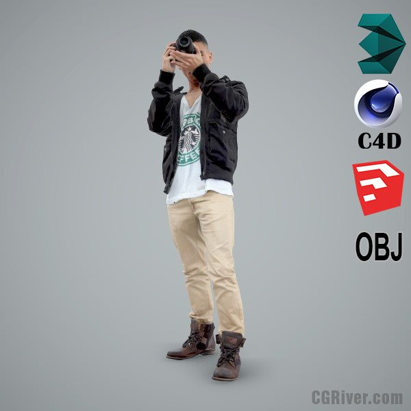 Asian Man / Casual - CMan0101-HD2-O02P01-S - Ready-Posed 3D Human Model / Male Character (Still)
