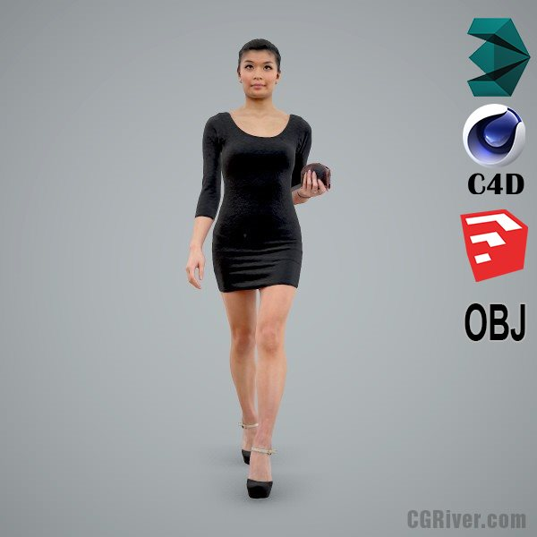 Asian Woman / Casual - CWom0105-HD2-O01P02-S - Ready-Posed 3D Human Model / Female Character (Still)